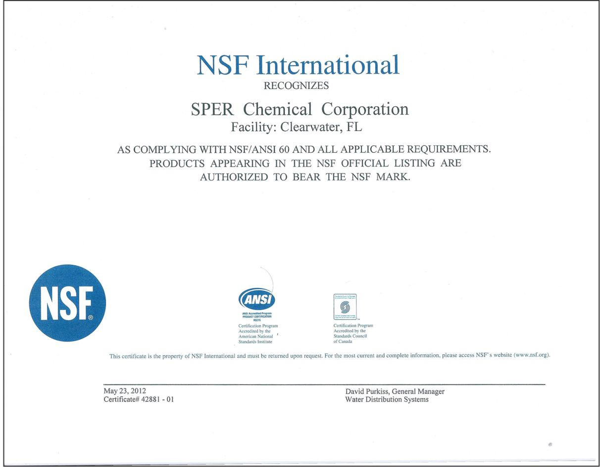 Product certification nsfcert xflitez Choice Image
